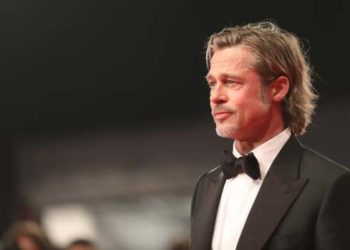 """VENICE, ITALY - AUGUST 29: Brad Pitt walks the red carpet ahead of the """"Ad Astra"""" screening during the 76th Venice Film Festival at Sala Grande on August 29, 2019 in Venice, Italy. (Photo by Tristan Fewings/Getty Images)"""