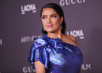 LOS ANGELES, CA - NOVEMBER 04:  Actress Salma Hayek attends the 2017 LACMA Art + Film gala at LACMA on November 4, 2017 in Los Angeles, California.  (Photo by Jason LaVeris/FilmMagic)